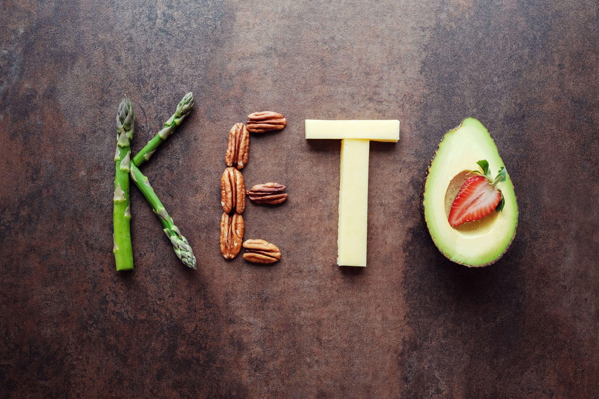 Ketogén diéta étellel illusztrálva